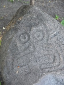 ne of the ancient petroglyphs at Finca Chipotle